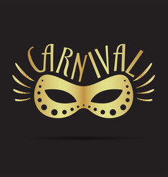 Carnival mask illsutration vector