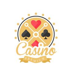casino premium logo colorful vintage gambling vector image vector image