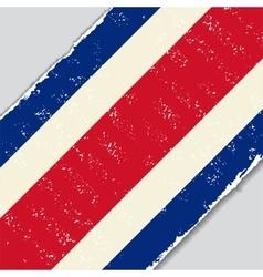 Costa rican grunge flag vector