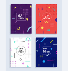 Covers modern abstract design templates set vector