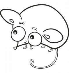 cute mouse for coloring book vector image vector image