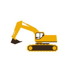 excavator icon sleek style vector image vector image