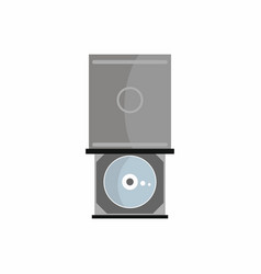 Flat hardware dvd-rom icon for repair service vector