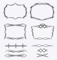 Frames line set vector