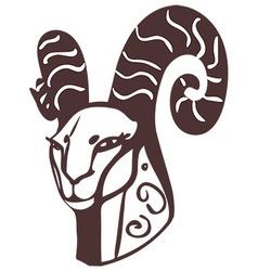 Goat head vector image