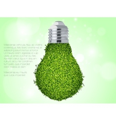 green energy icon vector image