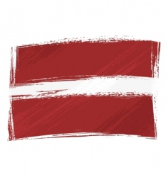 grunge Latvia flag vector image vector image