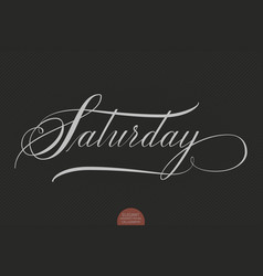 Hand drawn lettering saturday vector