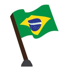 isolated flag of brazil vector image