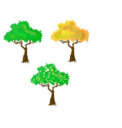 seasons collection of trees vector image