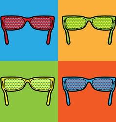 Sunglasses lichtenstein pop art vector