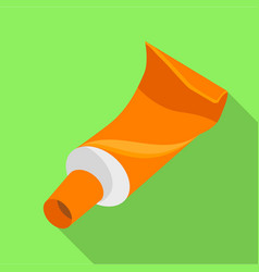 Tube paint icon flat style vector