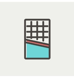 Waffle thin line icon vector image