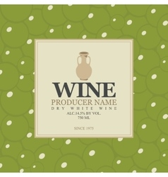 Wine label with a clay jug vector