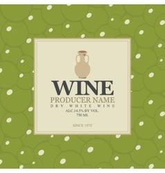 wine label with a clay jug vector image vector image