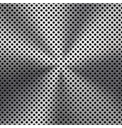 Metal Background with Seamless Perforated Texture vector image
