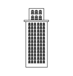 Silhouette skyscraper residence with several vector
