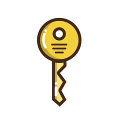 security key icon to web protection vector image