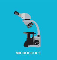 Laboratory microscope machine vector