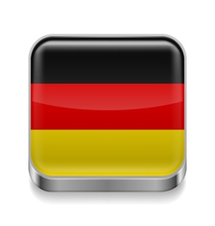 Metal icon of germany vector