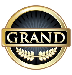 Grand gold label vector