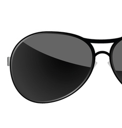 Sunglass black art vector