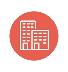 Office buildings thin line icon vector