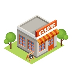 Isometric cafe vector image
