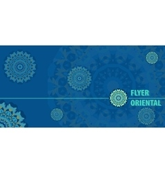 Flayer template design in blue color vector