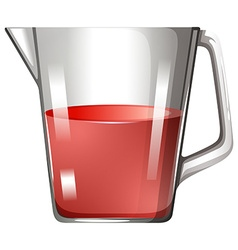 Glass beaker with red liquid vector