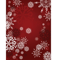 Red background with snowflakes2 vector