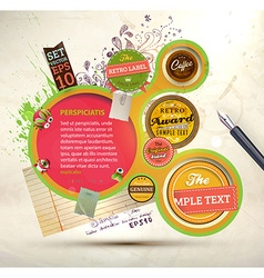 Abstract label set vector