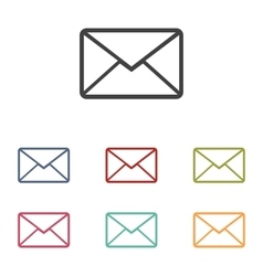 Letter icons set vector