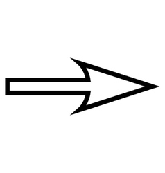 Sharp arrow right thin line icon vector