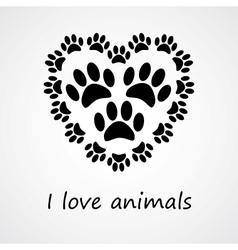 I love animals vector