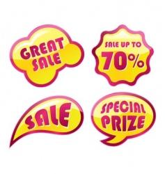 discount seal vector image