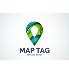 Abstract business company map tag or locator logo vector