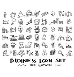 business doodles sketch ink eps10 vector image