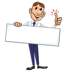 businessman with blank sign vector image