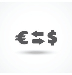 Currency exchange icon vector image