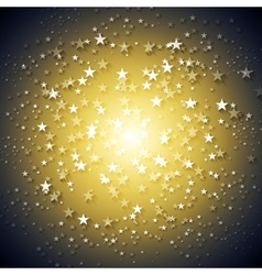 Dark yellow stars abstract background vector