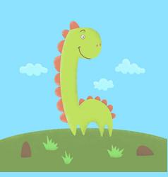dinosaur flat vector image
