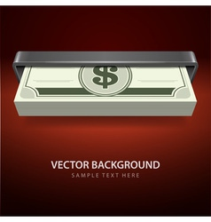 Dollars money from cash machine vector image