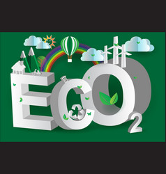 Eco green city design3disometric vector