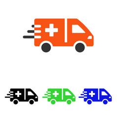 emergency car flat icon vector image vector image