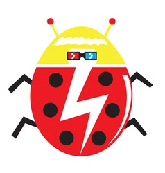 funky lady bug vector image vector image