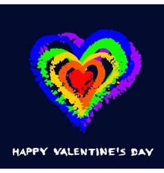 Gay Valentine Card Rainbow Heart vector image vector image