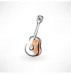 guitar grunge icon vector image