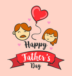 Happy father day hand draw art vector