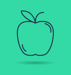 isolated icon of linear apple vector image